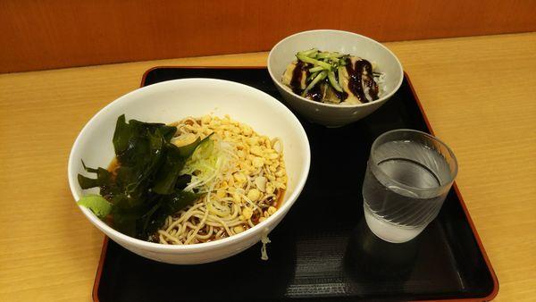 「冷 穴子丼セット」@梅もと 新宿西口店の写真