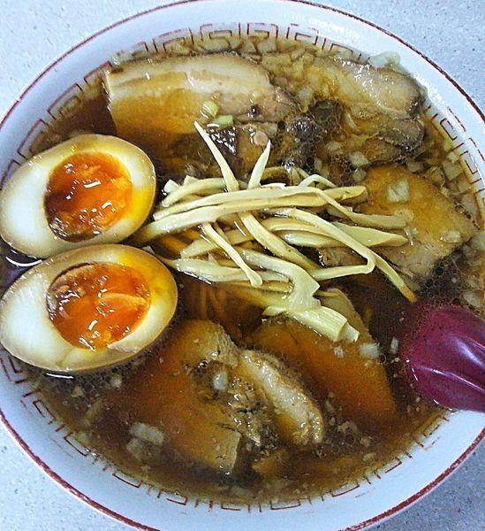 「チャーシュー麺 730円+玉子 100円」@ラーメン 天一の写真