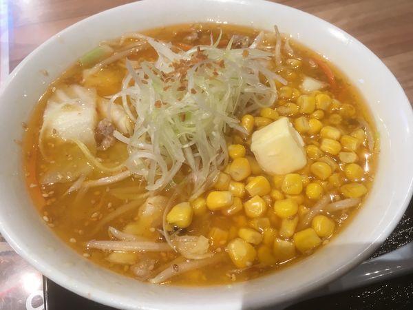 「コーンバター拉麺」@けやき 新千歳空港店の写真