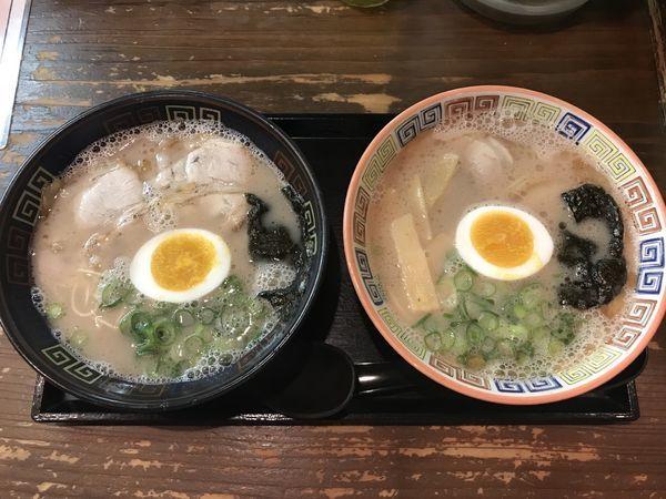 「食べくらべセット 900円」@大砲ラーメン 本店の写真