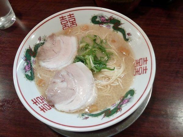 「久留米ラーメン 730円 麺硬め 無料替玉」@久留米ラーメン 福ヤ 南越谷店の写真