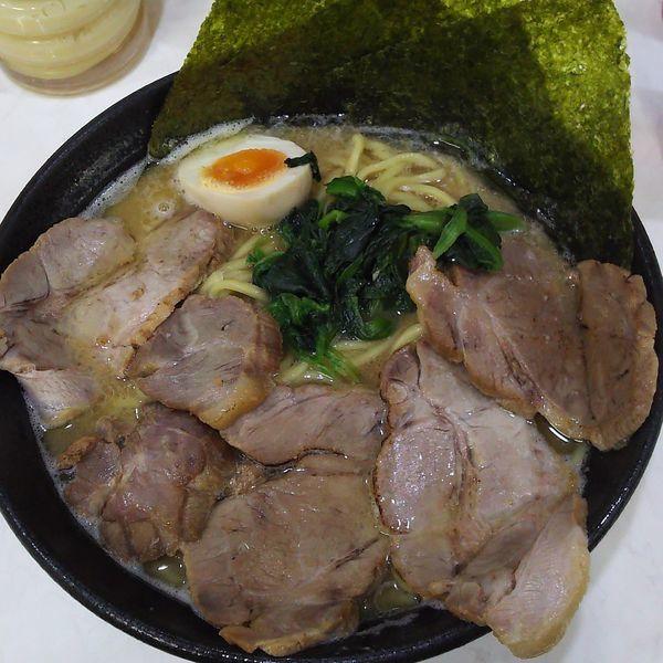 「醤油豚骨チャーシュー麺中盛」@龍源 矢向店の写真