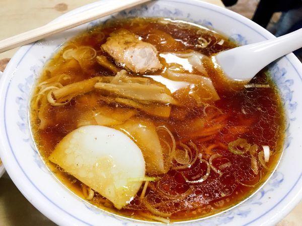 「ワンタン麺+半炒飯」@浅草橋 大勝軒の写真