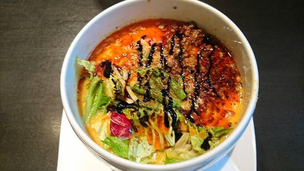 「(ランチ)ヘーゼルナッツ風味特製坦々麺セット 1620円 ※」@蔭山樓の写真