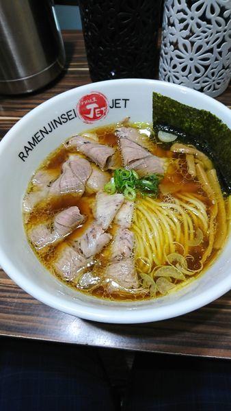 「醤油チャーシュー麺」@ラーメン人生 JET 福島本店の写真