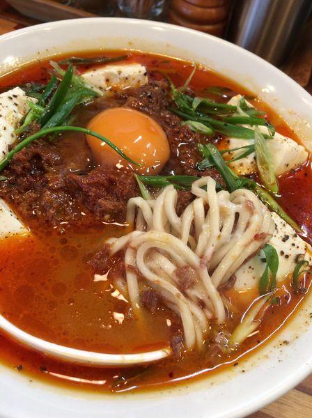 「【限定】お肉たっぷりスンドゥブチゲヌードル980円」@鮮魚らーめん 五ノ神水産の写真