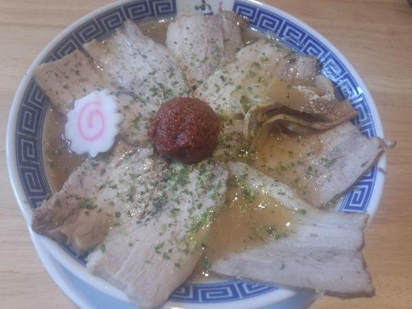 「からみそチャーシュー麺 1,200円」@からみそラーメンふくろう 名駅店の写真