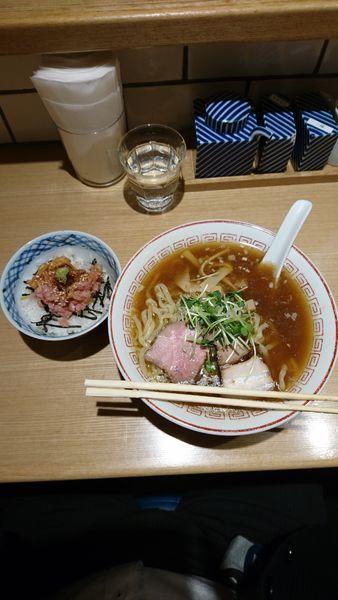 「醤油(すっきり)+ちらしセット」@きたかた食堂の写真
