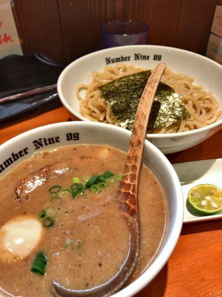 「濃厚つけめん+ライム」@麺Dining Number Nine 09の写真