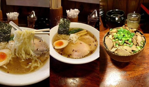 「『しおラーメン(並)+チャーシューめし(¥700+300)』」@麺屋 双喜の写真