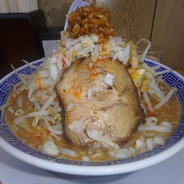 「ふじそば担々麺 (820円) 中盛」@勝神角ふじの写真