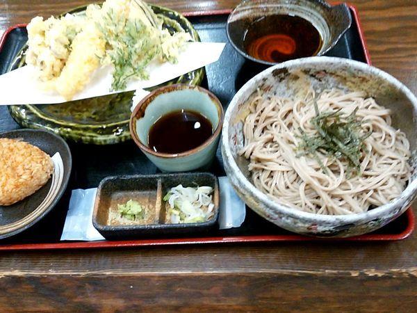 「天ぷらそば定食(冷たいそば)1,450円(税別)」@そば処 市太郎の写真