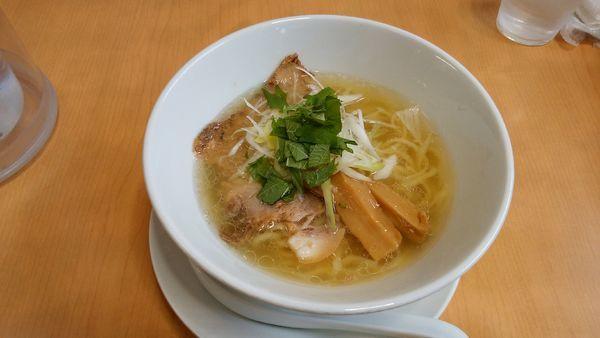 「豚塩+鶏皮丼+餃子」@麺蔵 あつおの写真