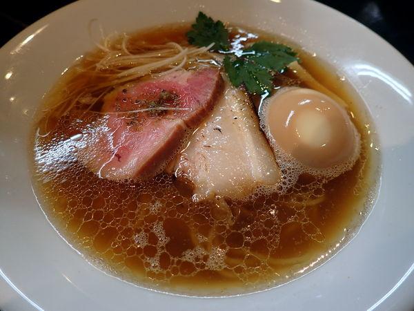 「味玉醤油そば」@麺屋 中川會 住吉店の写真