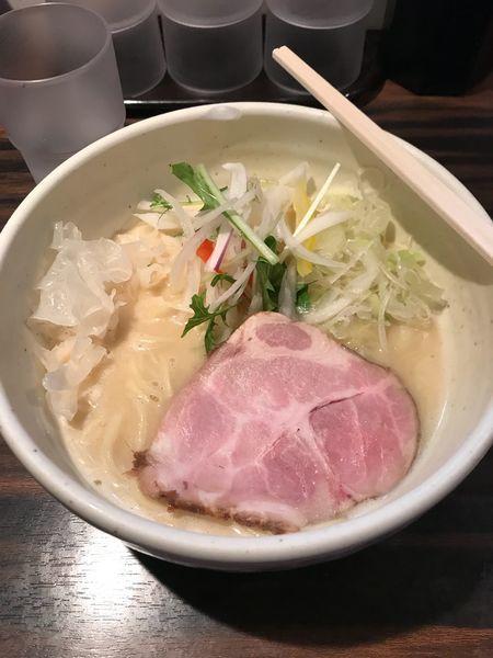 「鶏白湯ラーメン塩」@(麺)並木商事の写真