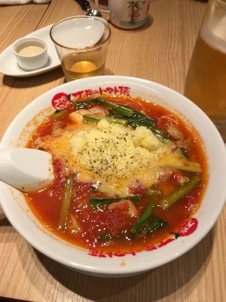 「太陽のチーズラーメン:860円」@太陽のトマト麺 元住吉支店の写真