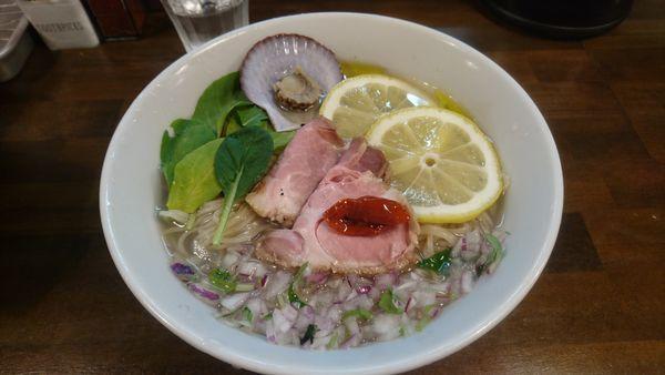 「【限定】トリュフ香る冷たい貝節潮そば」@CLAM&BONITO貝節麺RAIKの写真