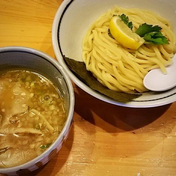 「新作!塩豚ガーリック煮干つけ麺(並)850円」@蕾 煮干 分家の写真