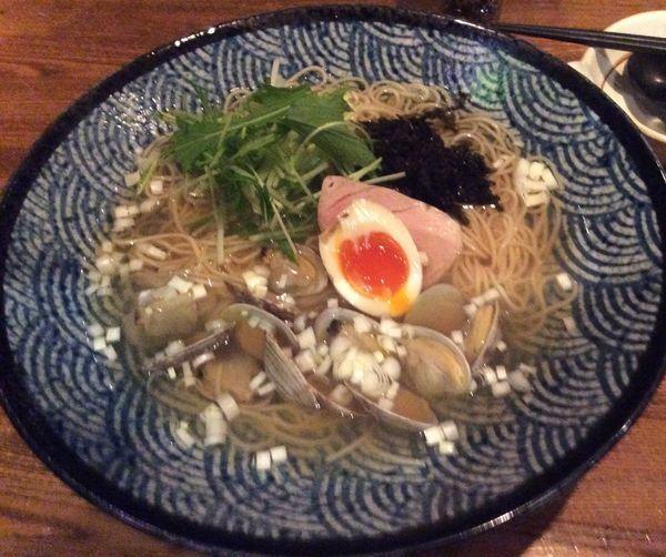 「大粒アサリのラーメン 880円」@麺 雑草家の写真
