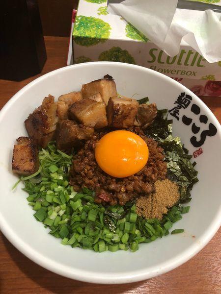 「肉入り台湾まぜそば」@麺屋こころ 六角橋店の写真