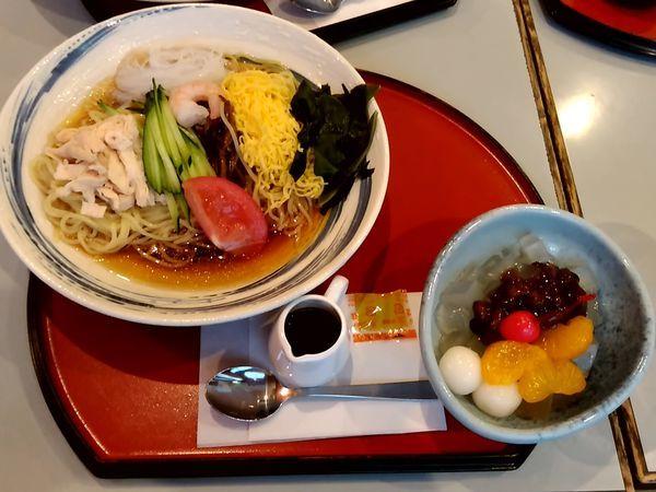 「五目冷し麺ランチ(並盛)930円」@京らーめん 糸ぐるま 高崎スズラン店の写真