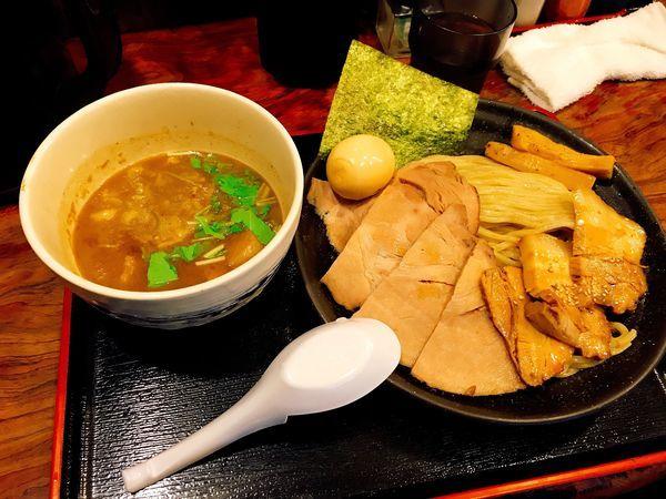 「チャーシューつけ麺+味玉」@神勝軒 下永谷店の写真
