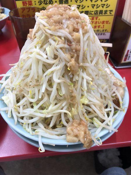 「中ラーメン麺300+野菜マシ」@立川マシマシ 足利総本店の写真