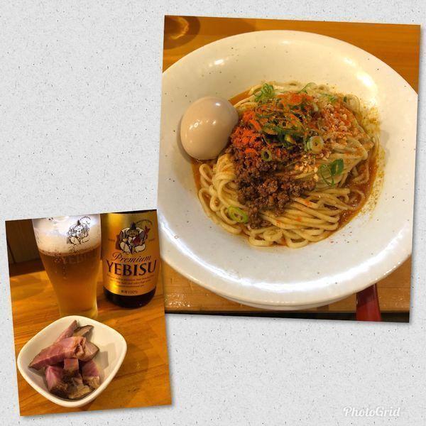 「汁なし担担麺 ¥860 with Beer」@麺庵ちとせの写真