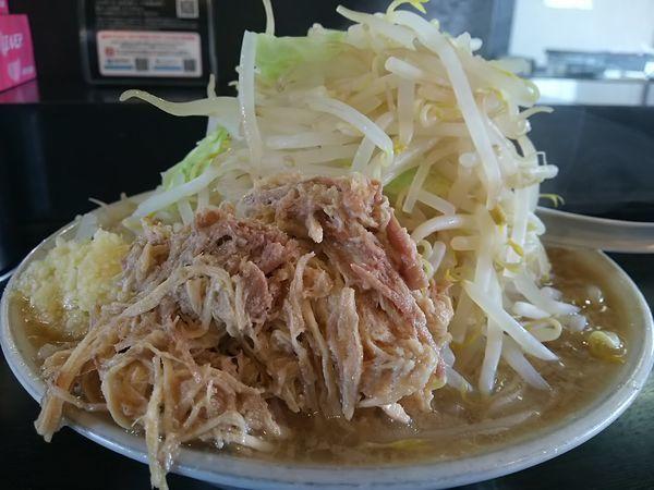 「ラーメン ※野菜:大、ニンニク&脂:普通」@麺とび六方 茅野店の写真