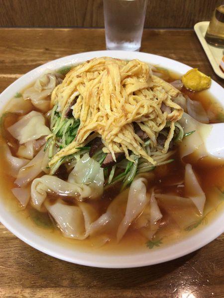 「冷やし中華わんたん麺」@わんたんやの写真
