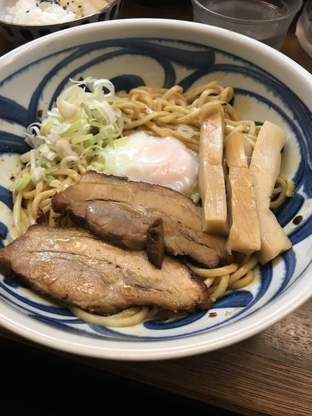 「油そば」@つけ麺・らーめん 豆天狗 名古屋金山店の写真