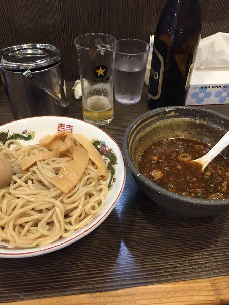 「つけ麺 味玉 炒飯」@麺や京水の写真