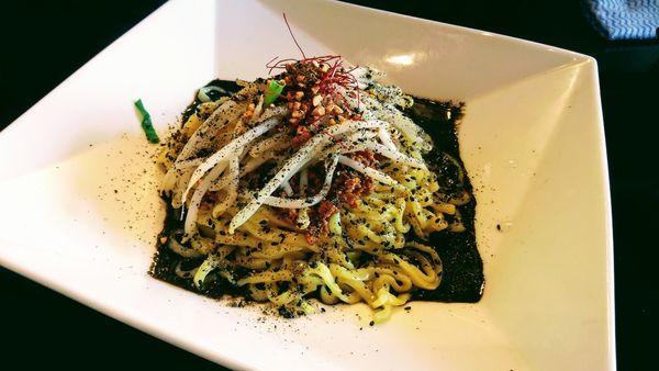 「汁なし黒担々麺」@金蠍の写真