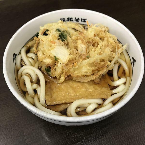 「きつね(¥370)+かき揚げ(クーポン)」@名代 箱根そば 田町店の写真