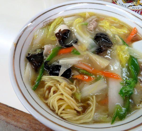 「広東麺(800円)+キリンラガー」@中華料理タカノの写真