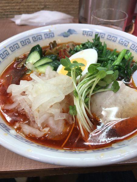 「満州ニララーメン醤油冷やし」@さかえや本店の写真