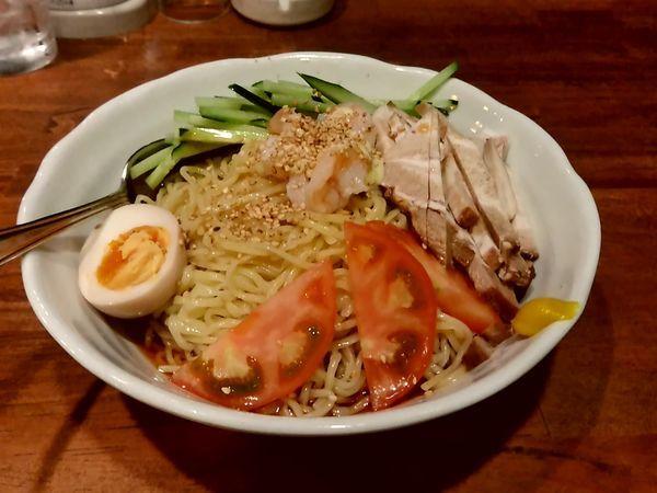 「エビのせ冷やし中華(大盛)950円」@チャイニーズキッチン 茘枝の写真
