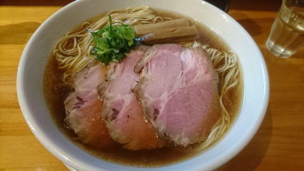 「出汁醤油(大盛)+チャーシュー2枚」@麺庵ちとせの写真