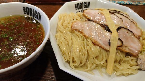 「焼き豚つけ麺(醬油)+大盛り」@らあめん元の写真