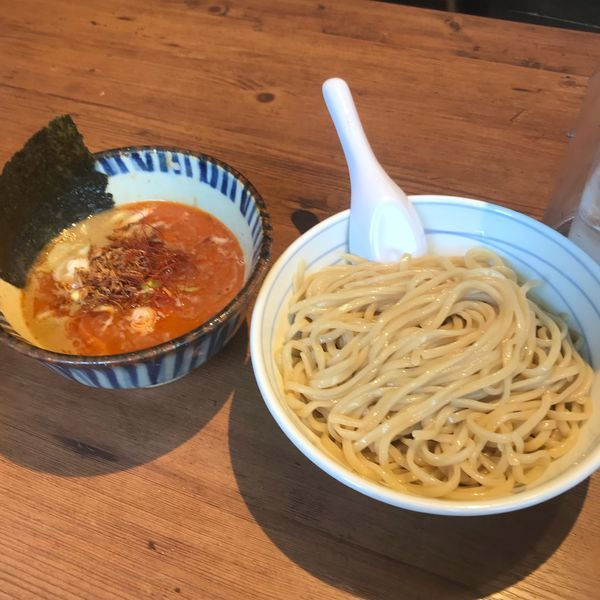 「辛つけめん」@東京煮干中華そば 三三㐂 大森の写真