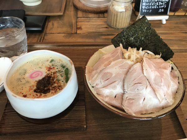 「シビカラ台湾味噌つけそば」@Omotenashi Noodles よこじの写真