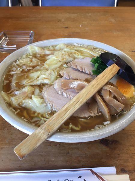 「チャーシューワンタン麺 大盛り」@らーめん ぺぺの写真