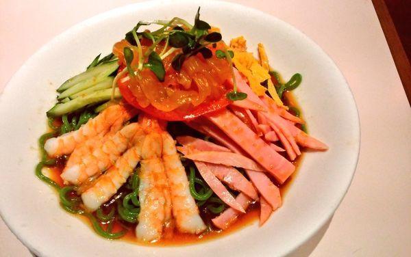 「五目冷麺・翡翠麺」@梅蘭 TOCみなとみらい店の写真