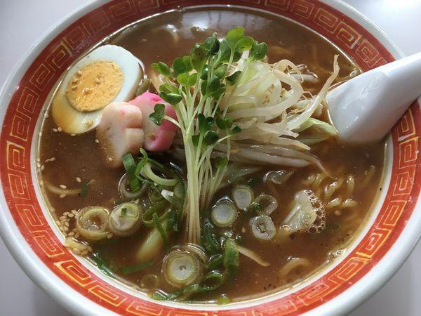 「味噌らーめん+餃子」@味の珍楽の写真