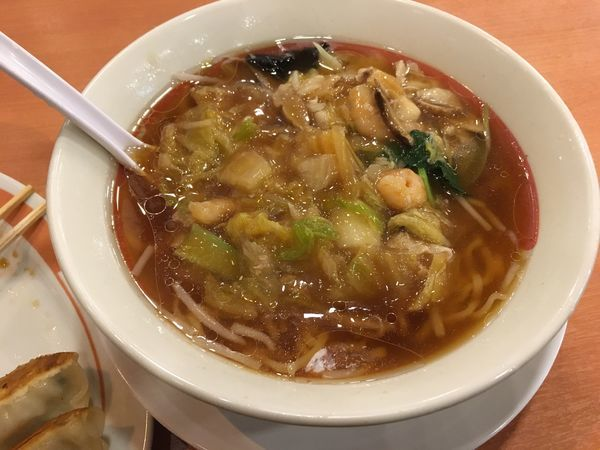 「五目うま煮ラーメン+餃子」@幸楽苑 取手店の写真