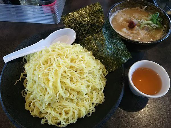 「【限定】豚骨つけ麺 (麺特盛(400g))」@ハルピンラーメン 塩尻広丘駅前店の写真