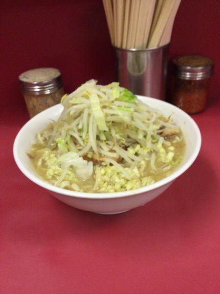 「ラーメン小、野菜少なめ、ニンニク多め」@ラーメン二郎 ひばりヶ丘駅前店の写真