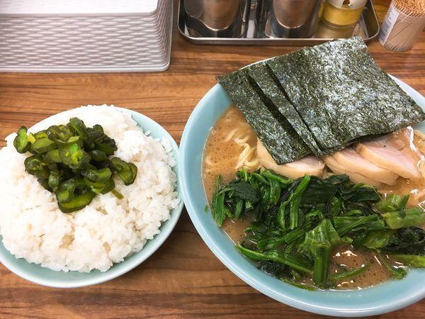 「チャーシューメン&ライス大」@横浜ラーメン 武蔵家 板橋店の写真