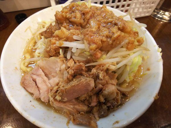 「ミニラーメン ヤサイニンニクアブラ 700円」@麺屋 歩夢の写真