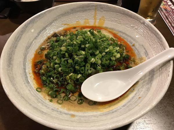 「汁無し坦坦麺 (クーポン半額450円)」@担担麺専門店 ドラゴンキングの写真